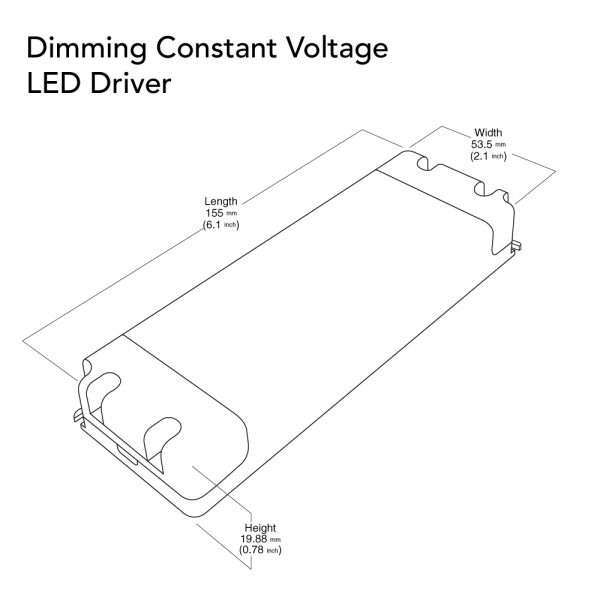 VEROBOARD 12V 2A 24W Dimmable VBD-012-024DM