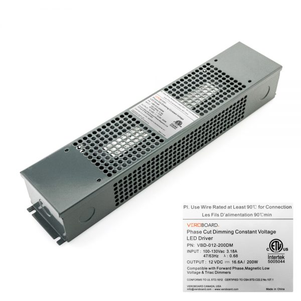 VEROBOARD 12V 16.66A 200W Dimmable LED Driver VBD-012-200DM