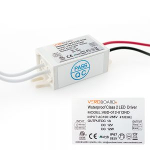 VEROBOARD 12V 1A 12W Non-Dimmable LED Driver