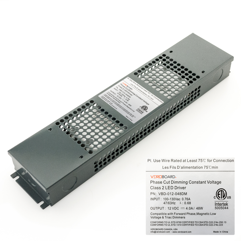 VEROBOARD 12V 4A 48W Dimmable VBD-012-048DM