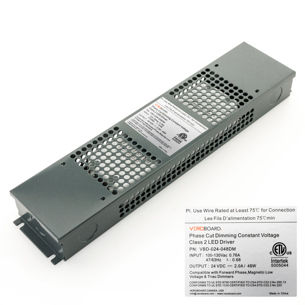VEROBOARD 24V 2A 48W Dimmable VBD-024-048DM