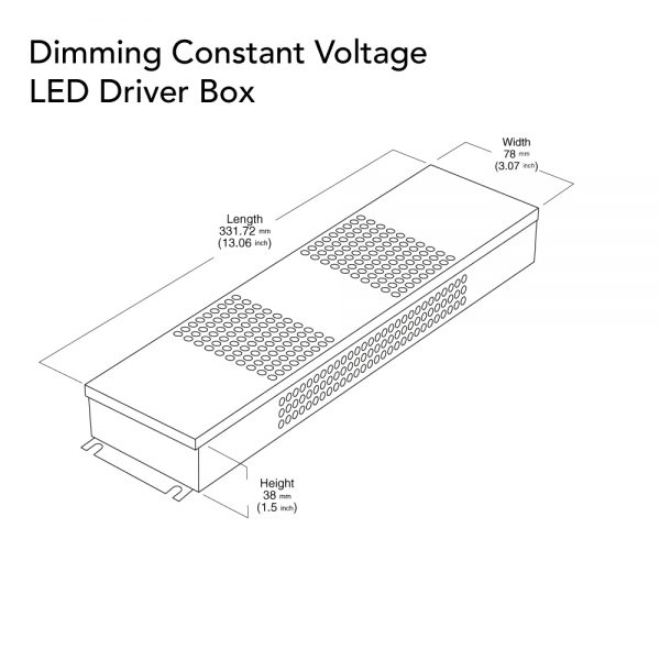 VEROBOARD 24V 60W Triac/0-10V Dimmable LED Driver Junction Box Dimensions