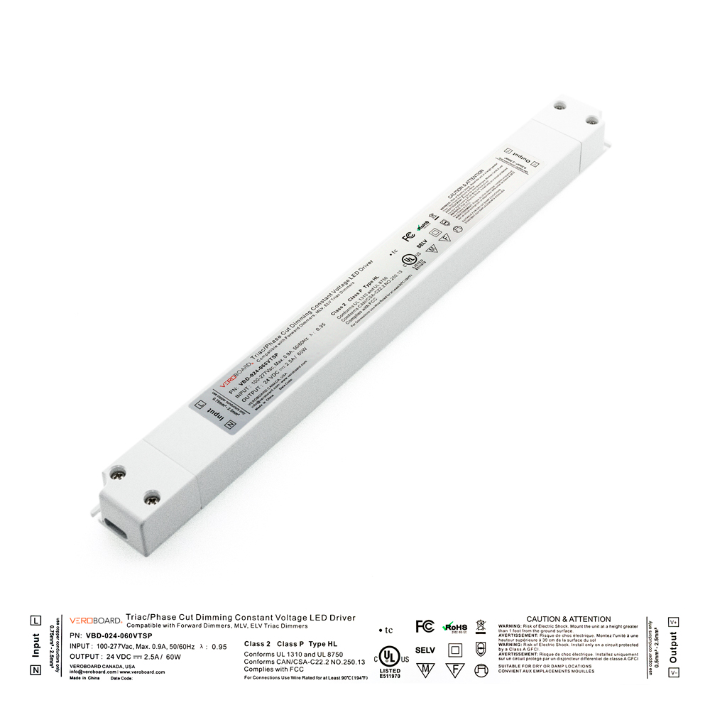 VEROBOARD Super Slim 24V 2.5A 60W Dimmable LED Driver