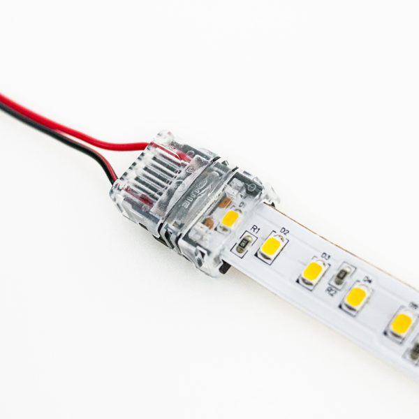 Veroboard LED Strip wire and connector 120 LEDs/M