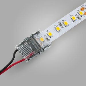 Veroboard 2-pin LED Strip to Wire Quick Snap Connector for 12mm Strip lights