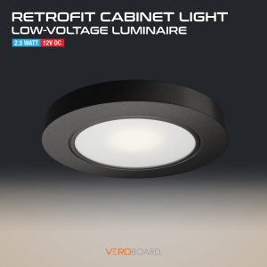 VBUN-R25-12V Retrofit Cabinet Light Black